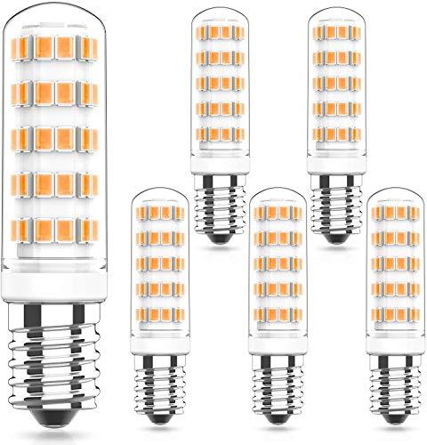 6W E14 LED Lampen Dimmbar 2700K Warmweiß, Ersatz 50W 60W E14 Halogenlampen, 220-240V AC LED E14 Leuchtmittel, 360° Abstrahlwinkel, E14 LED Glühbirne, 5er Pack