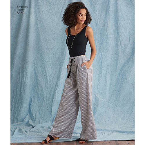 Simplicity Women's Loose Fitting Pants and Shorts Sewing Patterns, Sizes 14-22