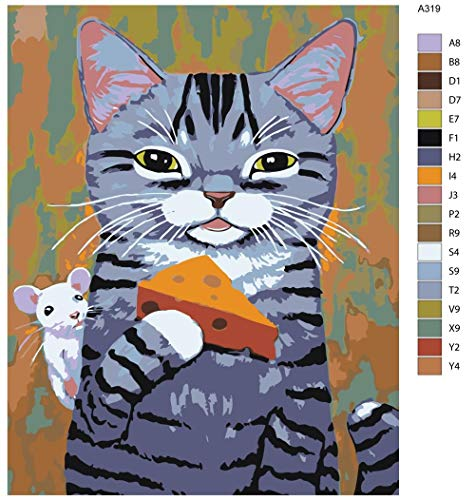 5d diamant schilderij kits volledige boor DIY kat met kaas 40x50cm Geen frame diamant schilderij kits voor volwassenen kunst en kunstnijverheid home decor