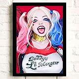 N / A Squadra HD Harley Quinn Poster Alta qualità Tela Pittura Alta qualità Decorazioni per la casa per la Camera dei bambini50x75cm