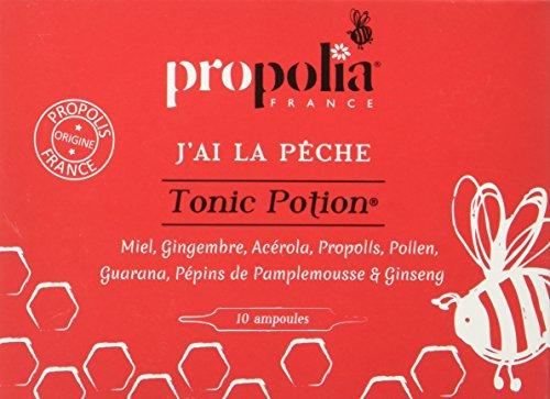 Propolia Tonic Potion Miel/Gingembre/Acérola/Propolis/Pollen/Guarana/Pépins de Pamplemousse/Ginseng 10 Ampoules Marron 100 ml