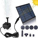 Bomba de Fuente Solar, Bomba de Estanque Solar de 1.4W 190L / H, Bomba de Fuente de Agua con energía Solar Flotante portátil, Bomba de Fuente