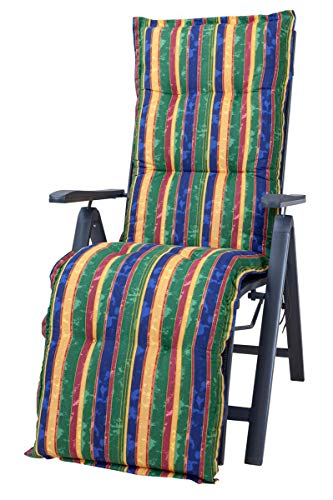 Kettler Polen KETTtex 2268 Auflage Relaxliegen Florence Multicolor Streifen bunt Sitzpolster 168x49x8 cm (ohne Liege)
