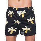 D.E.A.L International Boxershorts Schwarz mit Bananen-Print Size S