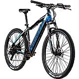 Zündapp E Mountainbike 650B Hardtail Pedelec 27,5 Zoll Z801 eBike Elektrofahrrad (schwarz/blau, 48...