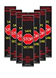 7, 10, 50, 100 Pack - Full Size Lockdown Magnetic Strips for School Lockdowns -...