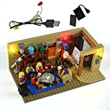 GEAMENT LED Light Kit for Ideas The Big Bang Theory - Compatible with Lego 21302 Building Blocks Model (Lego Set Not Included) (with Instruction)