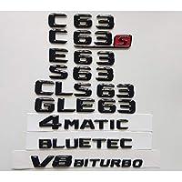メルセデスベンツW204 W205クーペC63 W212 W213 E63 W222 S63 CLS63 GLC63 GLE63 AMG 4MATIC V8 BITURBO、バッジエンブレム用