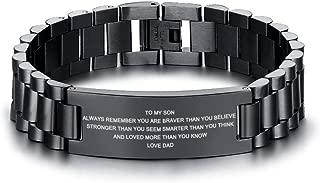 spartan bracelet black to my son