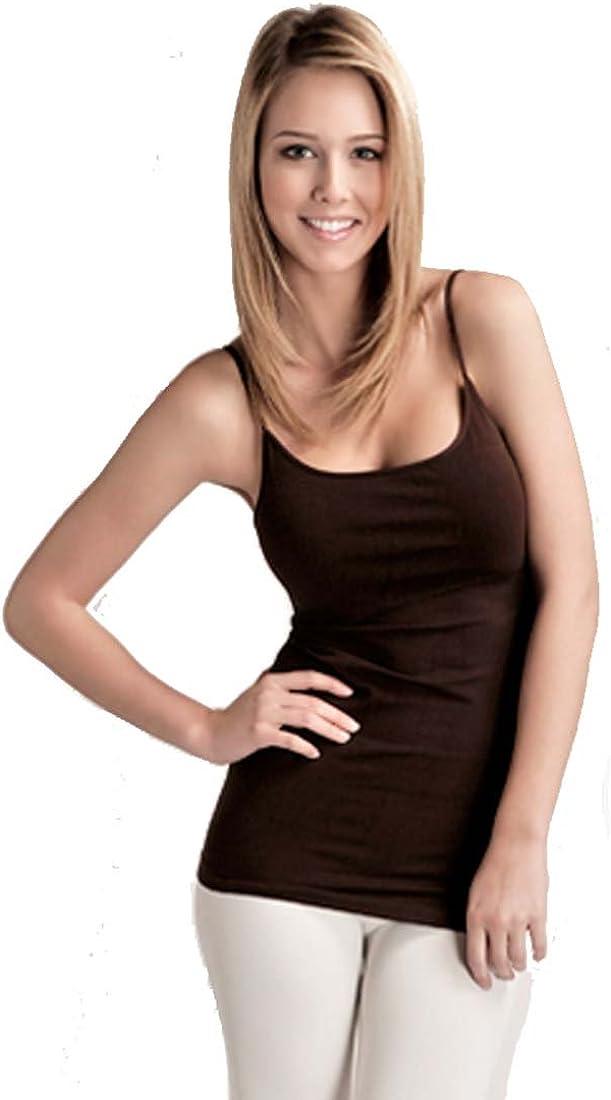 Hollywood Star Fashion Plain Long Spaghetti Strap Tank Top Camis Basic Camisole Cotton Plus Size