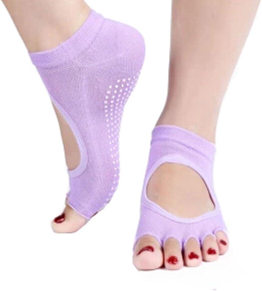 Phoenix Wonder Women's Non Slip Half Toele Yoga Cotton Socks Luxury Free shipping Toe