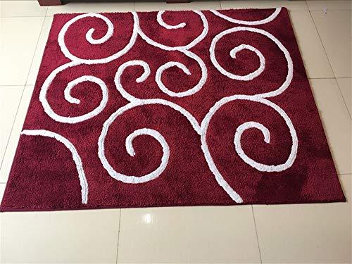 Decoratie, modern, eenvoudig, groot tapijt, woonkamer, salontafel, bank, kantoor, werkkamer, slaapkamer, deurmat, windmat, rood, 70 x 90 cm 120*140cm
