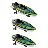 Intex 1-Person Inflatable Kayak (2 Pack) w/ 2-Person Inflatable Kayak w/ pump