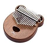 HIOD 17 Teclas Kalimba Instrumento de Música de Acacia 17 Teclas Dedo Pulgar Piano Mano Musical