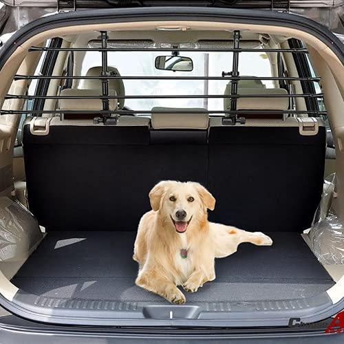 Trintion Universal Auto Hundegitter Kofferraum Trenngitter für Hunde Verstellbar Extra Stabil Für Sicheres Befördern Hundes - Schutzgitter Kofferraumschutz Gitter,30-55 X 85-140 cm, Schwarz