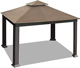 EliteShade 10x13 feet Sunbrella Titan Patio Outdoor Garden Backyard Gazebo with Ventilation and 10 Years Non-Fading Guarantee(Sunbrella Cocoa)