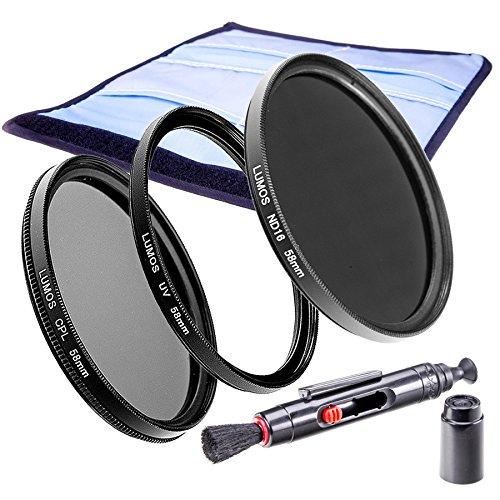 LUMOS Premium Filterset Slim 58mm - ND Filter - zirkularer Polfilter - Hochwertiger UV Schutzfilter - Zubehör Set für Kamera Objektiv 58 mm - UV-Filter - Lebendige Farben - ND16