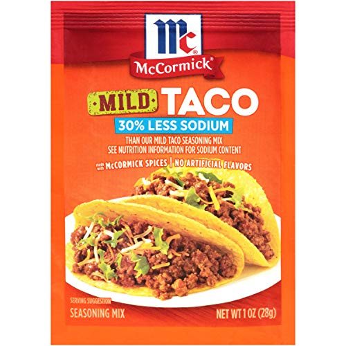 McCormick 30% Less Sodium Mild Taco Seasoning Mix, 1 oz