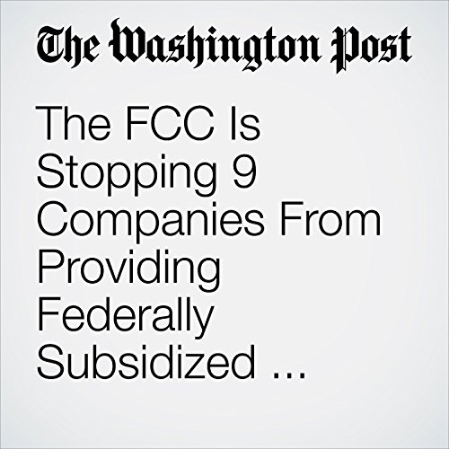 The FCC Is Stopping 9 Companies From Providing Federally Subsidized Internet to the Poor copertina
