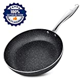 Frying Pan 11 Inch, Stone-Derived Nonstick Coating Skillets, Stainless Steel Handle Cooking Pan…