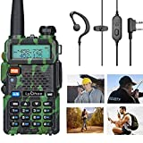 Lychee UV-5R Walkie Talkie FM Radio Profesional Doble Banda VHF&UHF Transceptor para Trabajo/Senderismo/Camping/Viajes (Verde)