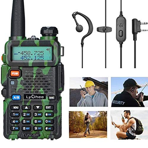 Lycheer Handfunkgerät FM Transceiver Radio UV-5R, Funkgerät Dual-Band CTCSS DCS FM Walkie-Talkie Radio für Arbeiten/Wandern/Camping/Reisen/Ausflug (Grün)