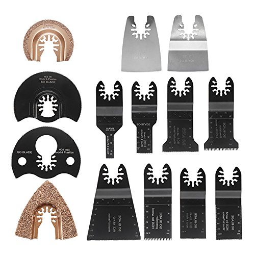EsportsMJJ Multitool Zaag Blade Accessoires kit voor Dewalt Fein Multimaster Bosch Makita