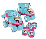 Mondo Toys - pattini a rotelle regolabili Forzen Disney per bambini - Taglia dal 22 al 29 - set completo di borsa trasparente, gomitiere e ginocchiere - 28298