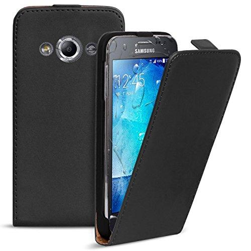 Conie Hülle für Samsung Galaxy Xcover 3 Flip Case, Klapphülle Schwarz, PU Leather Case, Premium Handy Schutz Hülle aus PU Leder, für Samsung Galaxy Xcover 3 (4.5