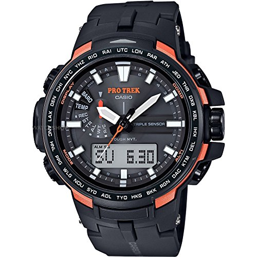 Casio Reloj Multiesfera para para Hombre de Energía Solar con Correa en Fibra de Carbono PRW-6100Y-1ER