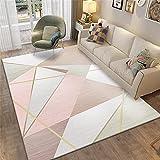 Deco Chambre Bebe Garcon Tapis de Salon Triangle Rose Triangle Moderne Tapis Durable Personnalisable Rose Decoration Chambre ado Fille Pas Cher 40x60cm Tapis Bebe eveil 1ft 3.7''X1ft 11.6''