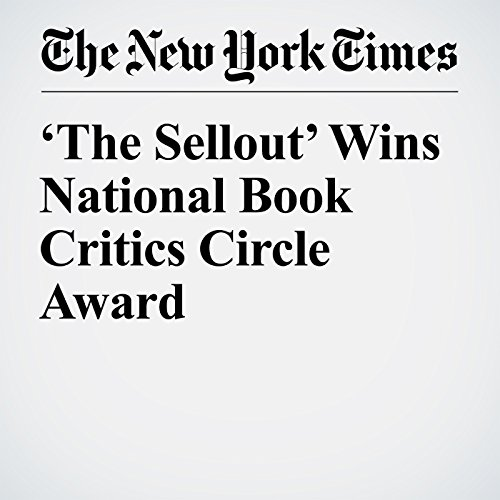 'The Sellout' Wins National Book Critics Circle Award audiobook cover art