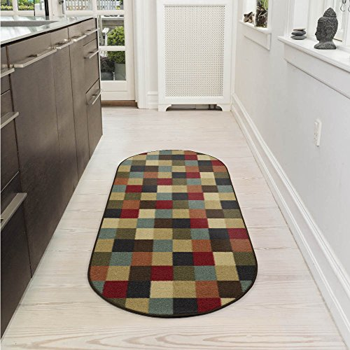 Ottomanson Ottohome Collection Contemporary Checkered Design Area Rug