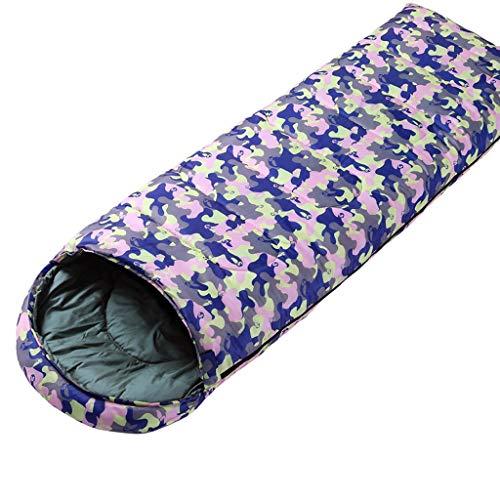 JBHURF Winter Daunenschlafsack Outdoor Camping Tragbarer Schlafsack Geeignet für Wandern (Kapazität : 1.8kg, Farbe : Camouflage pink)