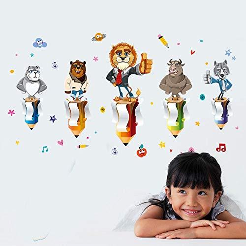 JIANXIQT muursticker sticker sticker goed gedaan lof bemoedigen muur Stickers voor klas kinderen slaapkamer Cartoon dieren milieuvriendelijk huis stickers kunst muurschildering