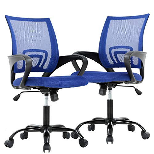 Ergonomic Office Chair Cheap Desk Chair Mesh Computer Chair Back Support Modern Executive Adjustable Chair Task Rolling Swivel Chair for Women,Men(2 Pack)