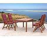 Gartentisch Natur Holztisch Tisch Gartenmöbel Eukalyptus - 4