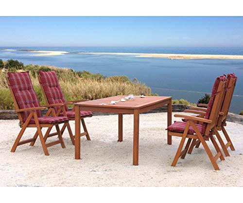 GRASEKAMP Qualität seit 1972 Gartentisch 160x90cm Natur Holztisch Tisch Gartenmöbel Eukalyptus - 4