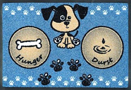 D&S Vertriebs Tapis de sol flexible pour chien ou chat Bleu 40 x 60 cm