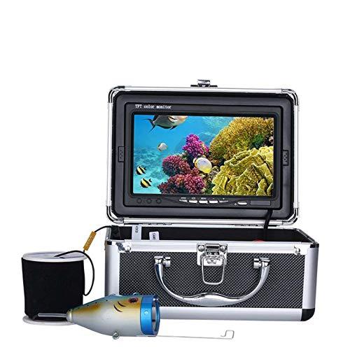 HWMYA Finder de 7 Pulgadas 1000tvl Finder de Pesca bajo el Agua 15pcs LED Blanco + 15pcs Lámpara infrarroja para Hielo/mar/de río,30M