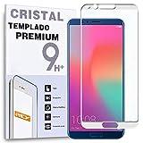 REY Protector de Pantalla Curvo para Huawei Honor V10 - View 10, Blanco, Cristal Vidrio Templado Premium, 3D / 4D / 5D, Anti Roturas