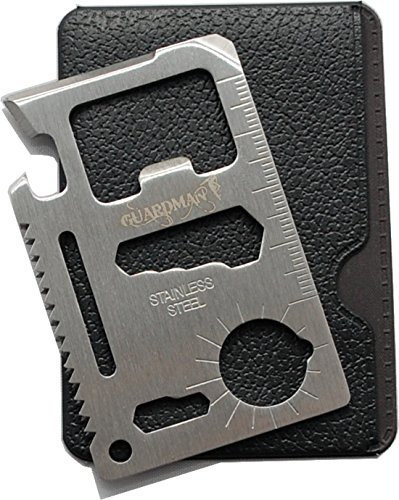 Guardman 11 in 1 Beer Opener Survival Credit Card Tool Fits Perfect in Your Wallet (1) Stocking...