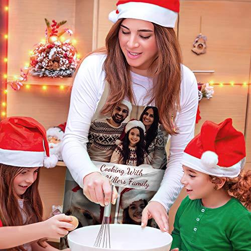 Delantal Navidad Personalizado Foto Y Nombre Varios Estilos Impermeable Ajustable Para Vacaciones Y Fiesta Año Nuevo