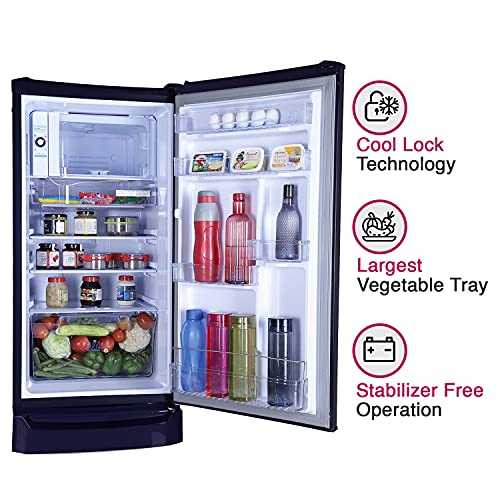 Godrej 185 L 4 Star Inverter Direct-Cool Single Door Refrigerator (RD UNO 1854 PTI AQ BL, Aqua Blue)