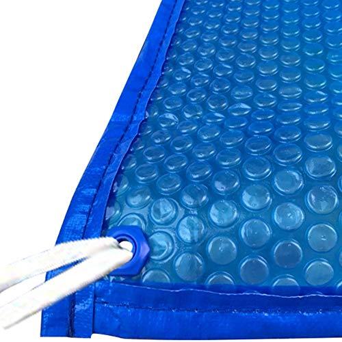 JLXJ Cobertor Solar Piscinas Lona Azul, Burbuja Solar Cubierta de Piscina con...