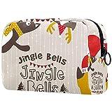 Bolsa Maquillaje Almacenamiento organización Artículos tocador cosméticos Estuche portátil Jingle Bells para Viajes Aire Libre
