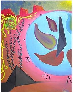 """Pintura Original Lienzo al Óleo Arte Abstracto Moderno """"TIEMPO INFINITO"""" por DOBOS, Cuadro para Decoración del Hogar, sala..."""