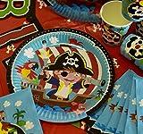 Krause & Sohn Party-Set Kindergeburtstag viele Teile Geschirr Geburtstag Dekoration Geburtstagstisch (Pirat) - 9