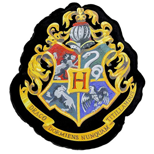 Harry Potter - Cojín con diseño de escudo de Hogwarts Shaped