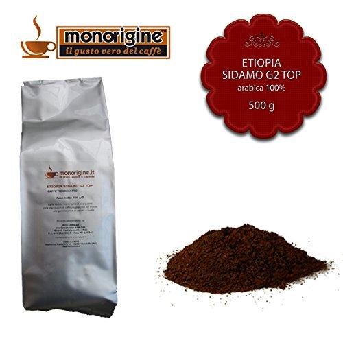 Caffè Arabica macinato fresco per moka Etiopia Sidamo G2 Top 500 gr - Caffè Monorigine Arabica 100%